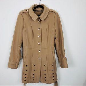 White House Black Market Tan Long Coat Size XL